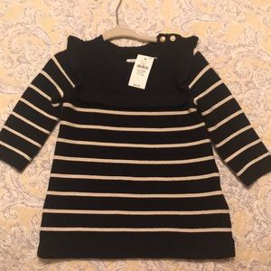 Gap Baby Girl Striped sweater dress 3-6 months NWT
